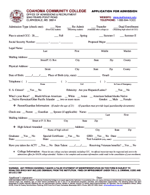 Printable college applications