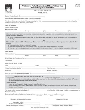 Form dr 123 fill online printable fillable blank for Non ownership of motor vehicle affidavit