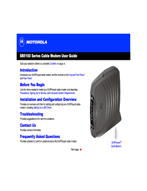SB5100 Series Cable Modem User Guide Introduction bb - MetroCast