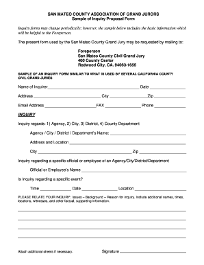 Letter of Complaint Form (PDF) - San Mateo County - co sanmateo ca