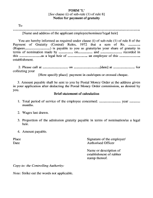Gratuity act 1972 in pdf
