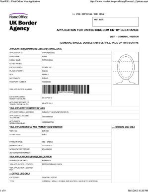 ... Visa4UK :: Print Online Visa Application - American University in