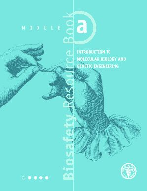 Biosafety Resource Book Introduction To Molecular Biology And