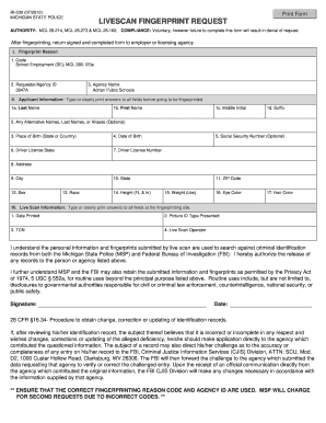 Michigan State Police Form - Fill Online, Printable, Fillable ...
