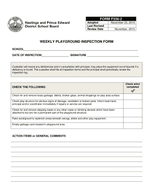 Fillable Online hpedsb on Procedure 556 FORM 556-2 Weekly ...