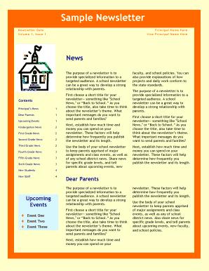 sample newsletter blogscesuwexedu