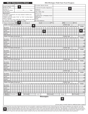 monthly attendance record template