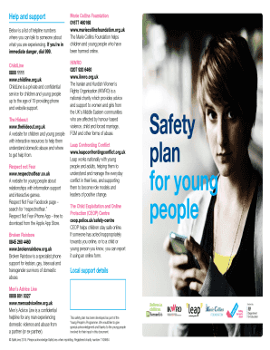 Safety plan for young people - SafeLives - safelives org