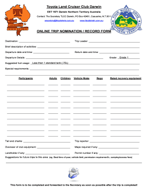 editable trip sheets online fill print download online forms