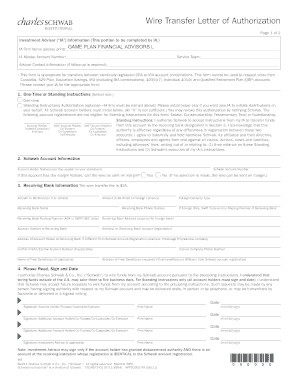 Charles schwab bank wire transfer instructions fill out online wire transfer letter of authorization game plan financial advisors spiritdancerdesigns Images
