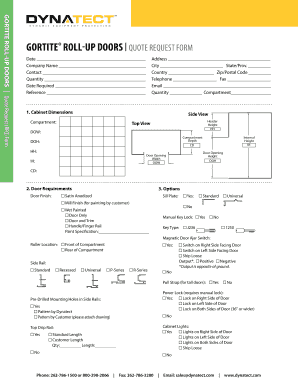 GORTITE ROLL-UP DOORS Quote ReQuest FoRm  sc 1 st  PDFfiller & Fillable Online TV User39s Guide Fax Email Print - PDFfiller