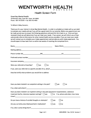 Editable mental health intake form template fill out print mental health intake form template altavistaventures Images