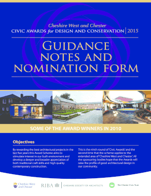 For Guidance notes and nomination form - Chester Civic Trust - chestercivictrust org