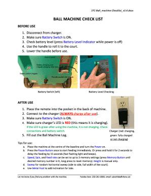 Fillable Online saanichtennisclub STC Ball Machine Manual v3 4 pdf