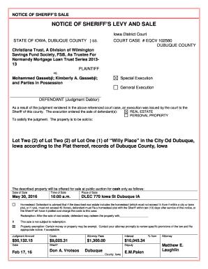 Fillable Online COURT CASE # EQCV 102580 DUBUQUE COUNTY