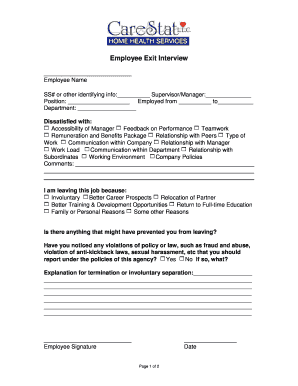 Fillable Employee Termination Letter Due To Poor Performance Edit