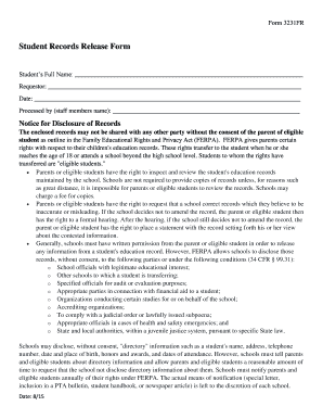 Printable release letter from school - Edit, Fill Out & Download ...
