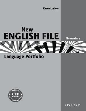 Fillable Online oup New English File Elementary Portfolio