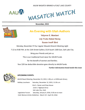 An Evening with Utah Authors - baauwb-butbbaauwbbnetb - aauw-ut aauw
