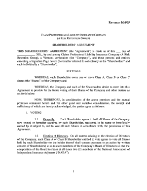 Shareholders agreement sample in word format templates fillable amended shareholders agreement in word 5 16 05doc cplic platinumwayz