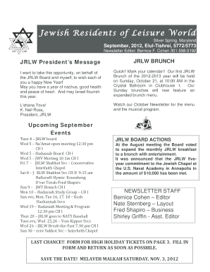 Jewish Residents of Leisure World - jrlwmd