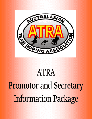 Promoters Pack - Australian Team Roping Association