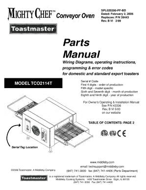 fillable online toastmaster cc manual pdf ebooks download fax rh pdffiller com
