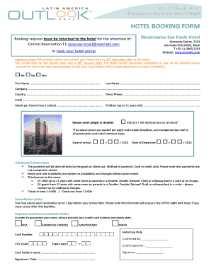 HOTEL BOOKING FORM - edanaorg
