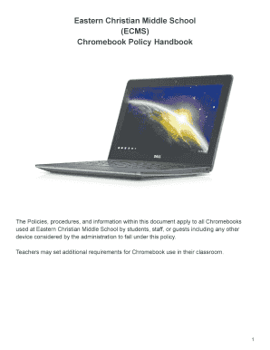 ecms nest Fillable Online Eastern Christian Middle School (ECMS) Chromebook ...