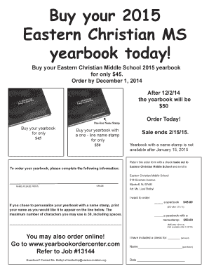 ecms nest Fillable Online Buy your 2015 Eastern Christian MS yearbook today ...