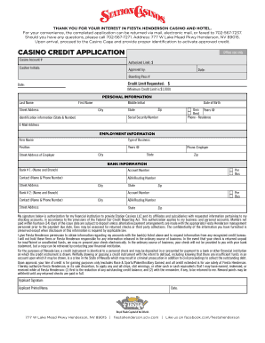 Casino credit application playing casino games for fun