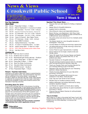 Th19 June 2015 Term 2 Week 9 - bcrookwellb-pbschoolsbbnswbbedubau