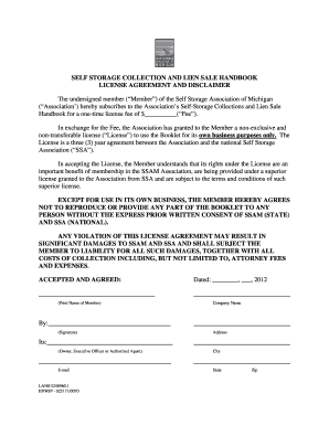 17 Printable Public Storage Rental Agreement Forms And