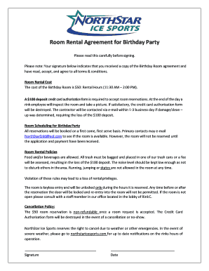 Printable free room rental agreement Edit Fill Out Download