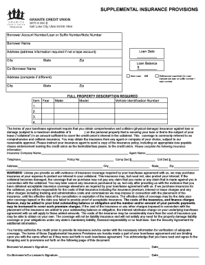 Fill out online forms templates download in word pdf supplemental insurance provisions platinumwayz