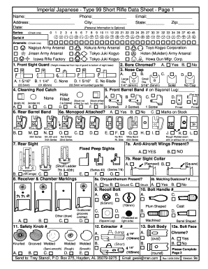 Imperial Anese Type 99 Short Bdata Sheetb