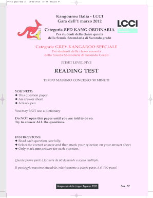 on sale d770b a7b73 Fillable Online kangourou Testo gara Eng 12 - kangourou Fax ...