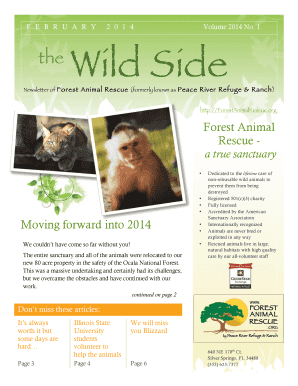 FEBRUARY 2014 the Wild Side - Forest Animal Rescue by - forestanimalrescue