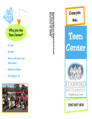 Why join the Teen Center - bstanfordsettlementbborgb