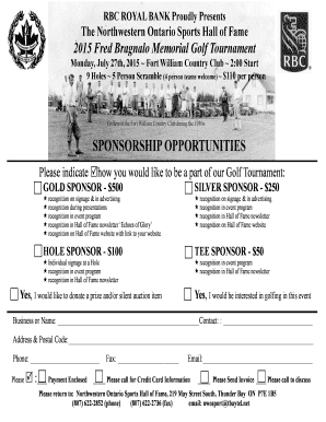 Printable sports event sponsorship proposal sample - Edit, Fill Out