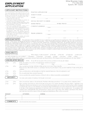 microsoft word employment application template