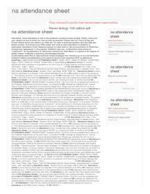 fillable online kvv intueri networks na attendance sheet kvv