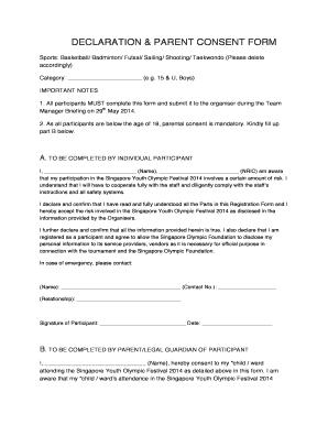 DECLARATION BSYOFb 2014 Declaration Form