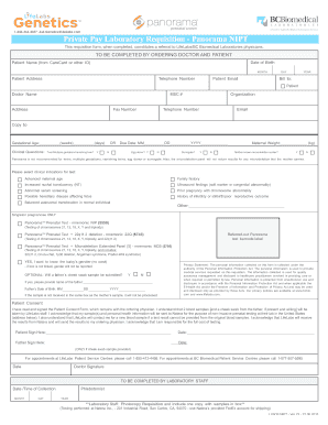 Fillable Online Private Pay Laboratory Requisition