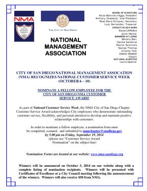 Fillable Online nma-sandiego National management association