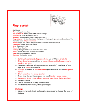 Play: act a part on a stage Fill Online, Printable, Fillable