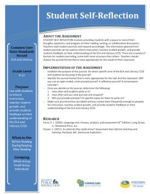 Assess Student Self-Reflection - Wisconsin RtI Center Fill Online