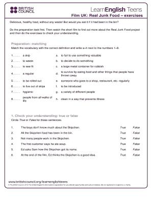 Editable food vocabulary exercises pdf - Fill, Print & Download
