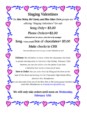 Singing Valentine Flyer.pub (Read-Only) - Clearwater Schools