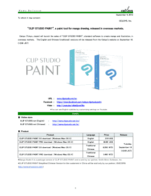 Printable paint tool sai chromebook - Fill Out & Download